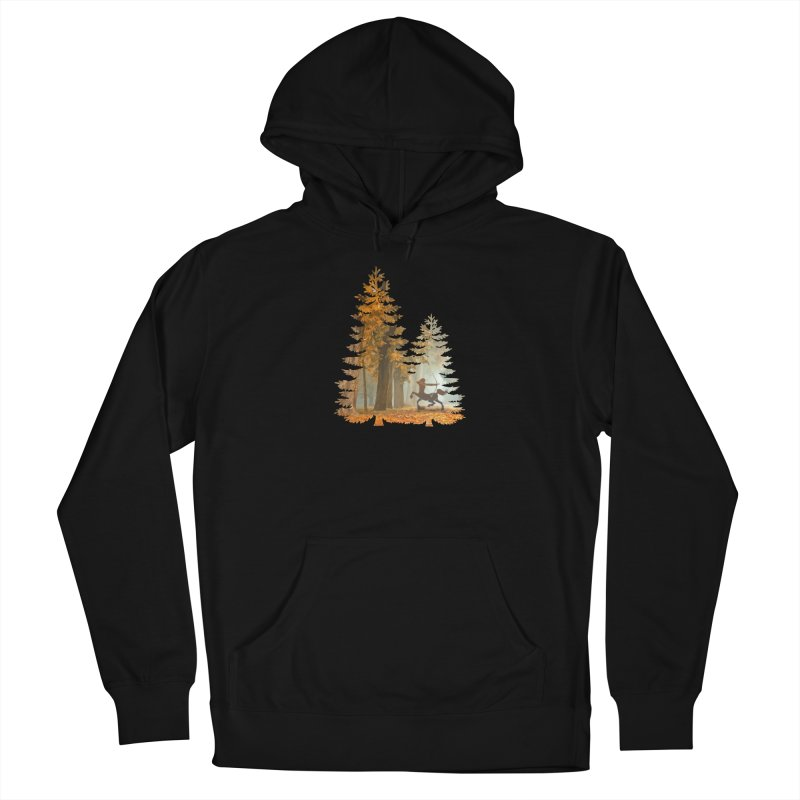 Mystic Hunt Men's French Terry Pullover Hoody by Ferine Fire