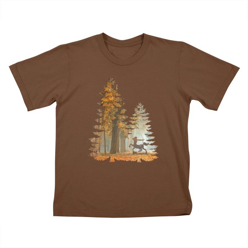 Mystic Hunt Kids T-Shirt by Ferine Fire