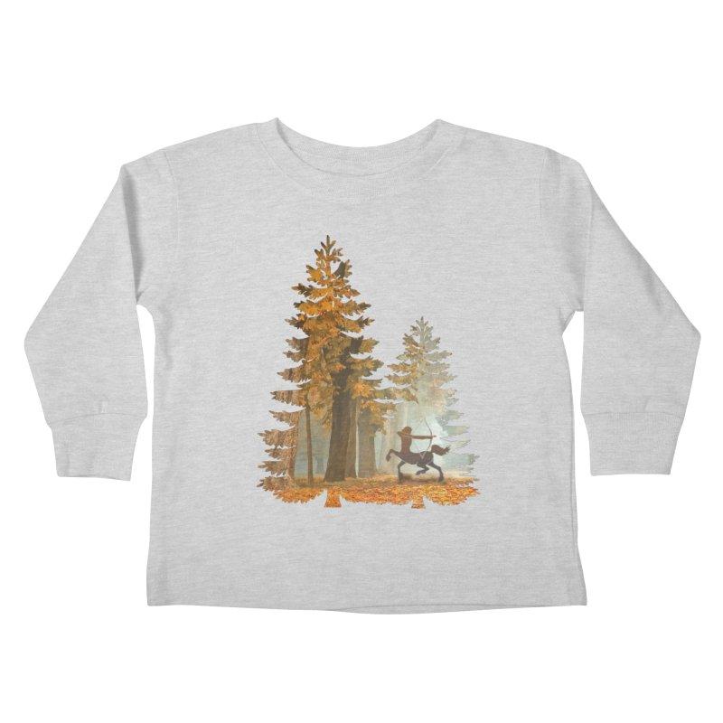 Mystic Hunt Kids Toddler Longsleeve T-Shirt by Ferine Fire