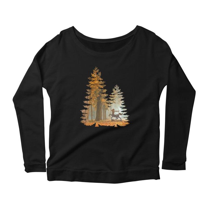 Mystic Hunt Women's Scoop Neck Longsleeve T-Shirt by Ferine Fire