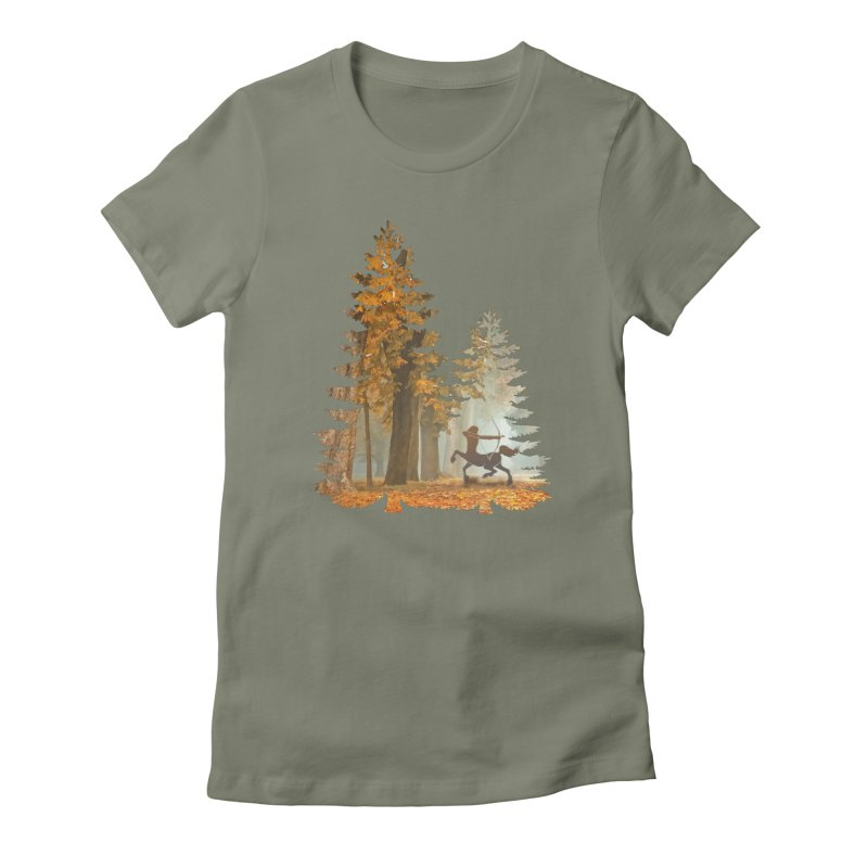 Mystic Hunt Women's Fitted T-Shirt by Ferine Fire
