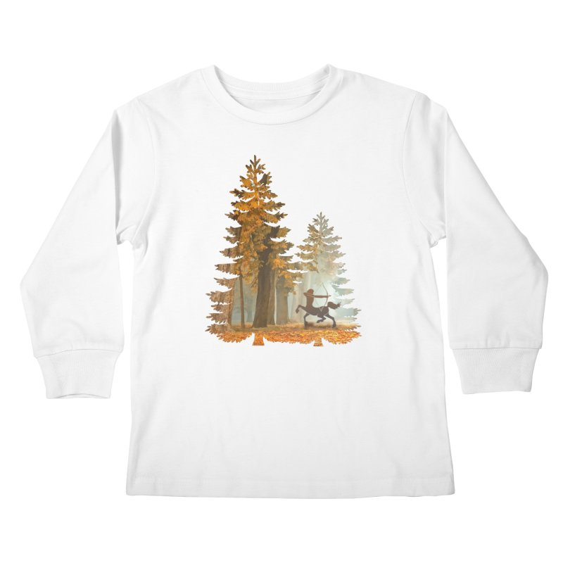 Mystic Hunt Kids Longsleeve T-Shirt by Ferine Fire