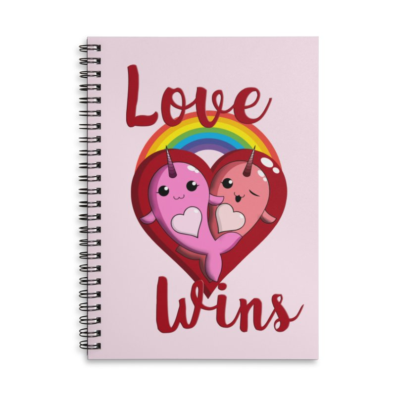Love Wins Accessories Lined Spiral Notebook by Ferine Fire