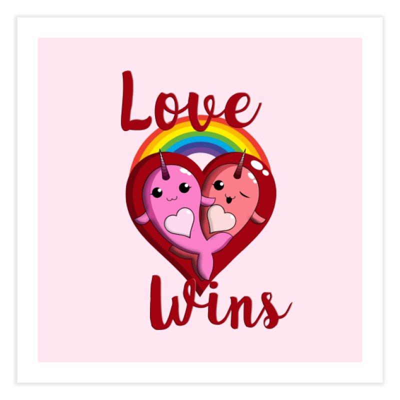 Love Wins Home Fine Art Print by Ferine Fire