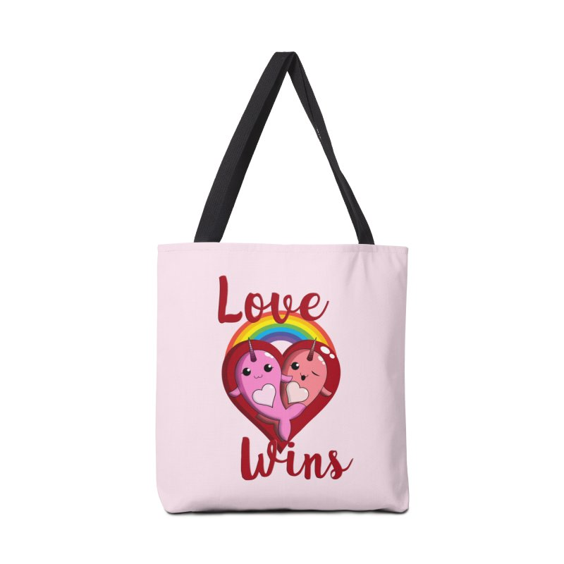 Love Wins Accessories Tote Bag Bag by Ferine Fire