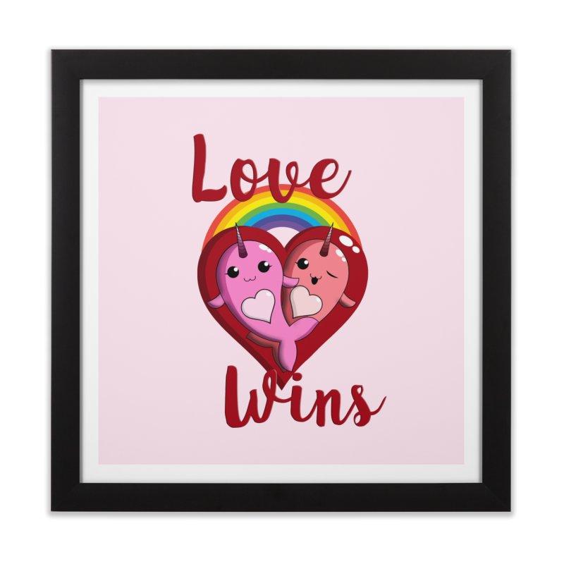 Love Wins Home Framed Fine Art Print by Ferine Fire