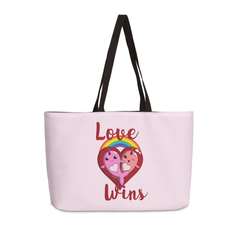 Love Wins Accessories Weekender Bag Bag by Ferine Fire