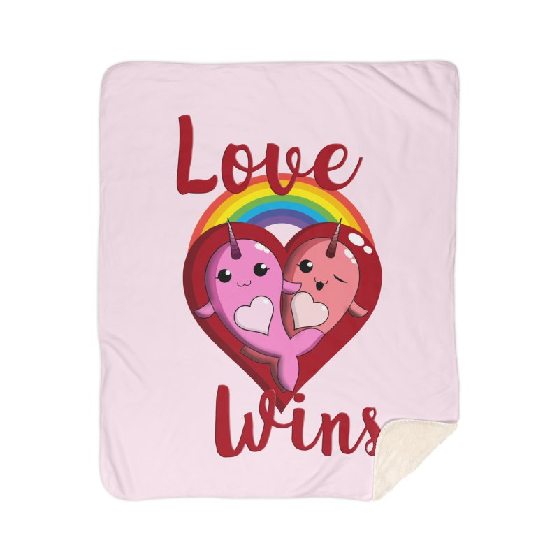 Love Wins Home Sherpa Blanket Blanket by Ferine Fire