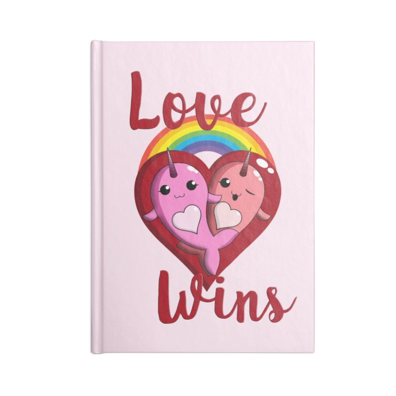 Love Wins Accessories Blank Journal Notebook by Ferine Fire
