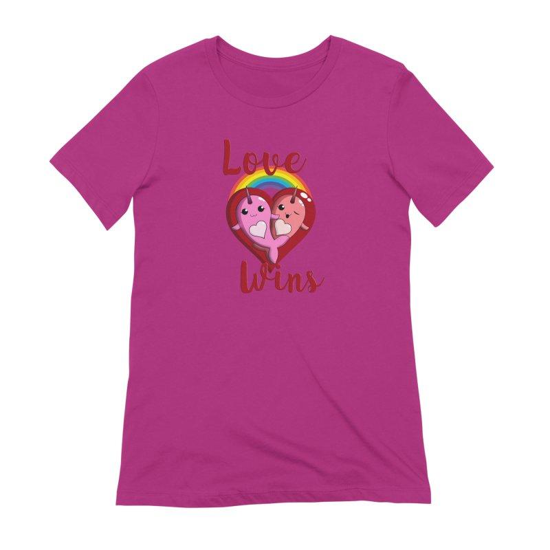 Love Wins Women's Extra Soft T-Shirt by Ferine Fire