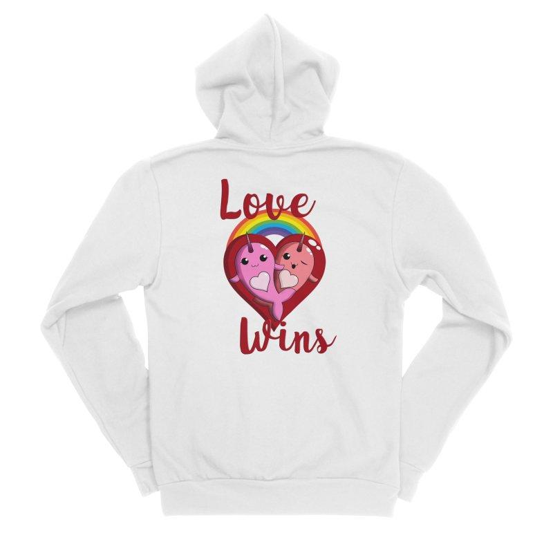 Love Wins Women's Sponge Fleece Zip-Up Hoody by Ferine Fire