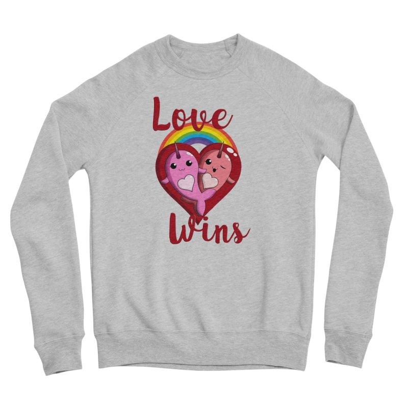 Love Wins Men's Sponge Fleece Sweatshirt by Ferine Fire