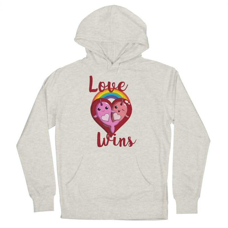 Love Wins Women's French Terry Pullover Hoody by Ferine Fire