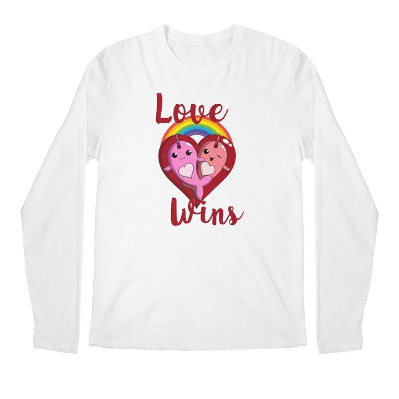 Love Wins Men's Regular Longsleeve T-Shirt by Ferine Fire