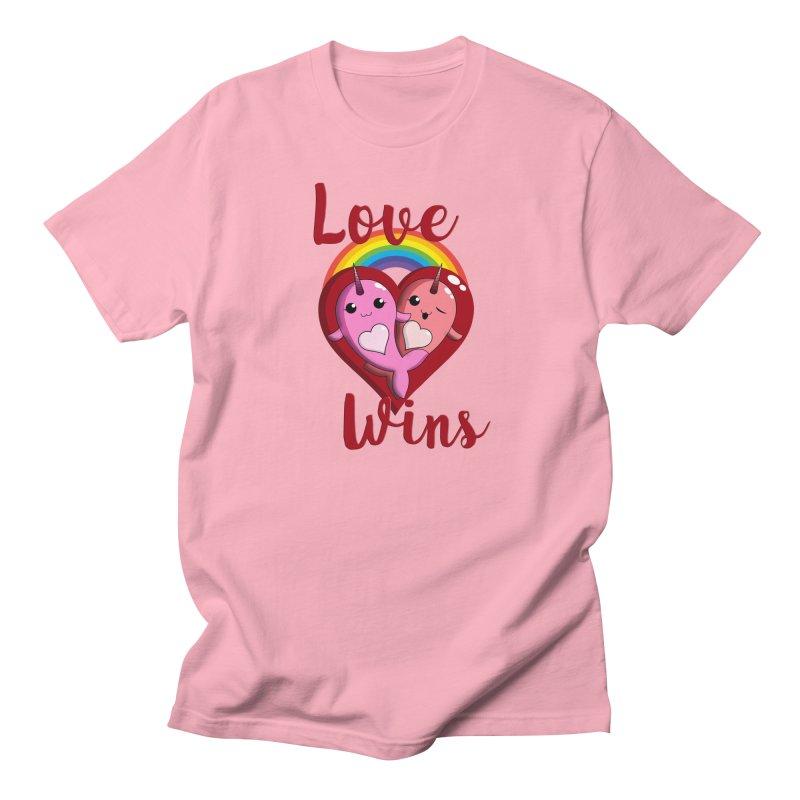 Love Wins Men's Regular T-Shirt by Ferine Fire