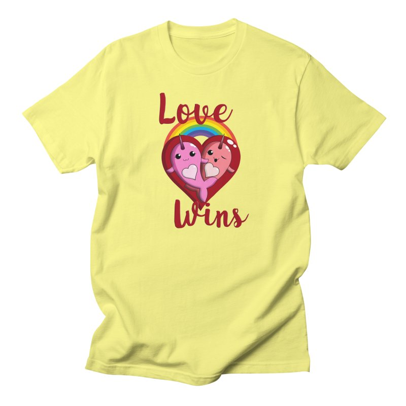 Love Wins Men's T-Shirt by Ferine Fire