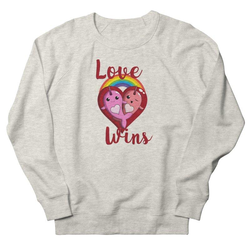 Love Wins Men's French Terry Sweatshirt by Ferine Fire