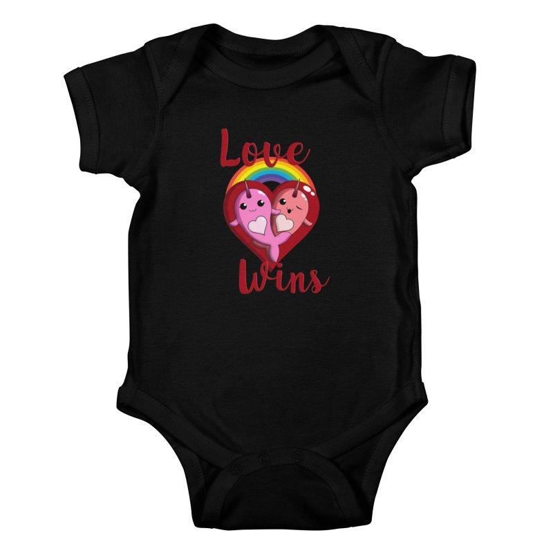 Love Wins Kids Baby Bodysuit by Ferine Fire