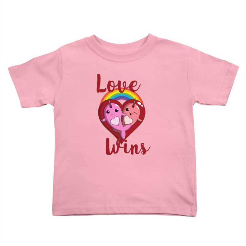 Love Wins Kids Toddler T-Shirt by Ferine Fire