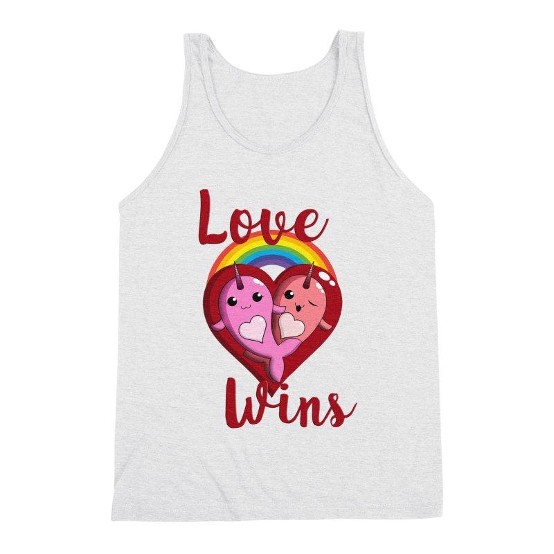 Love Wins Men's Triblend Tank by Ferine Fire