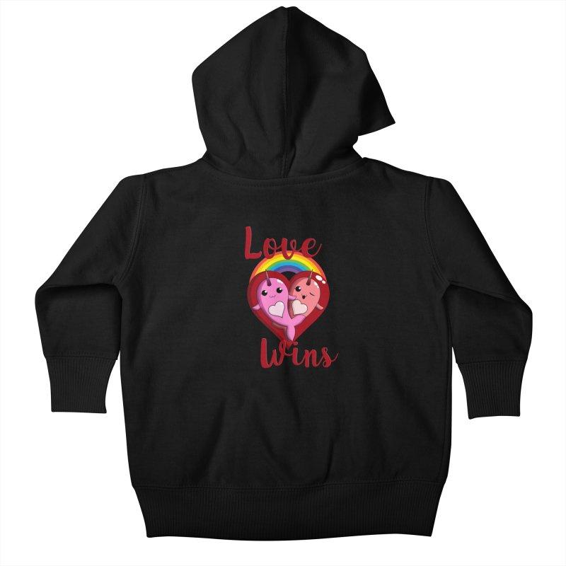 Love Wins Kids Baby Zip-Up Hoody by Ferine Fire