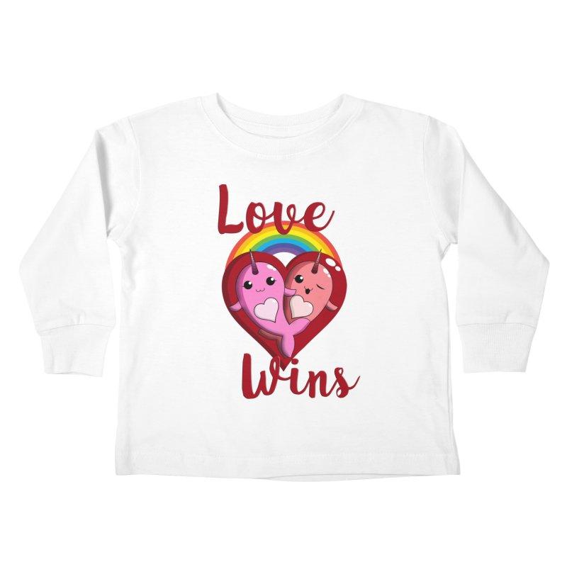 Love Wins Kids Toddler Longsleeve T-Shirt by Ferine Fire