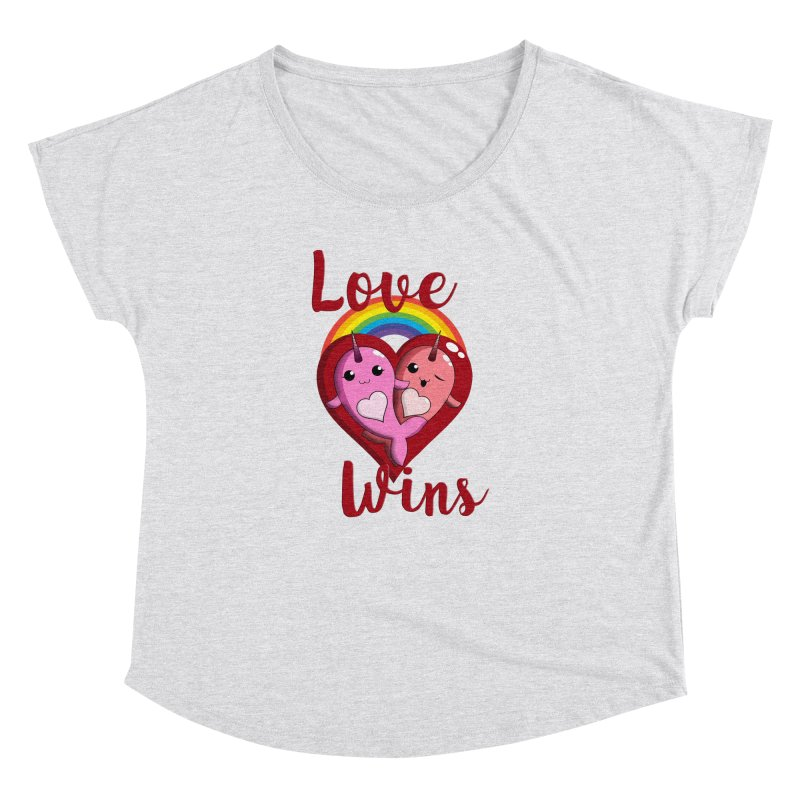 Love Wins Women's Dolman Scoop Neck by Ferine Fire