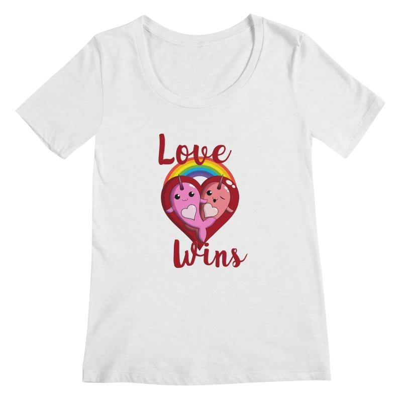 Love Wins Women's Regular Scoop Neck by Ferine Fire