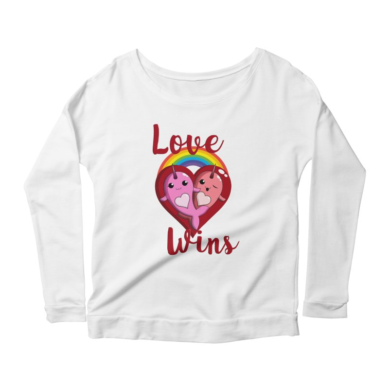 Love Wins Women's Scoop Neck Longsleeve T-Shirt by Ferine Fire