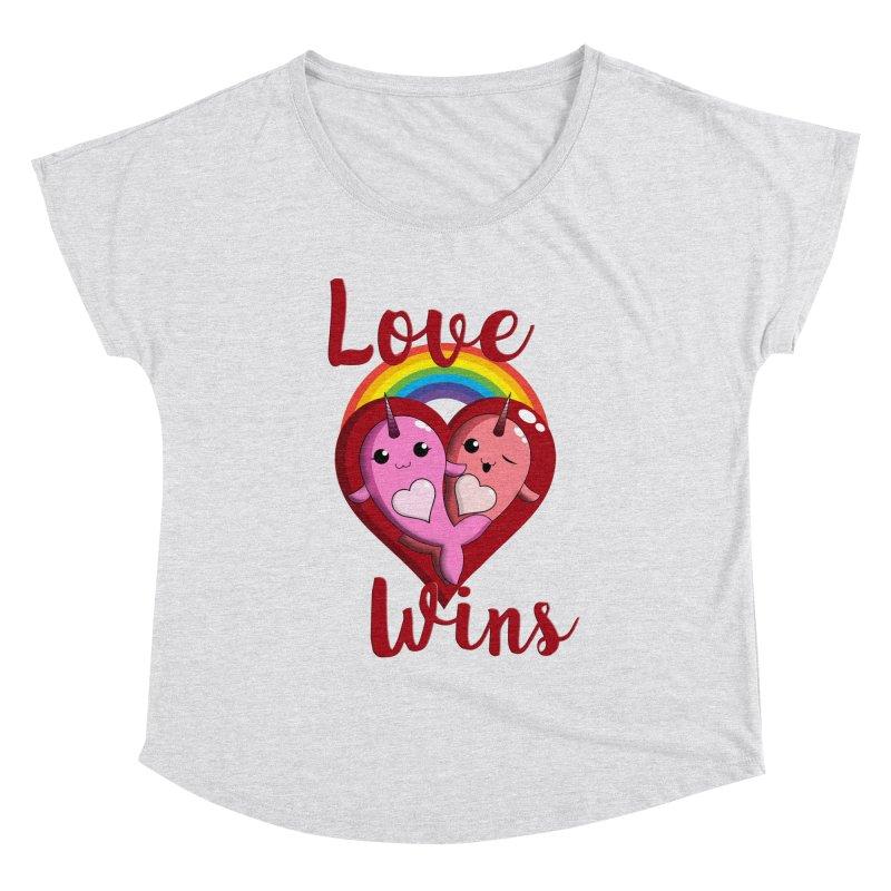 Love Wins Women's Dolman Scoop Neck by Ferine Fire