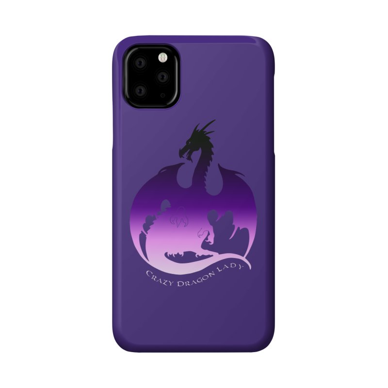 Crazy Dragon Lady Accessories Phone Case by Ferine Fire
