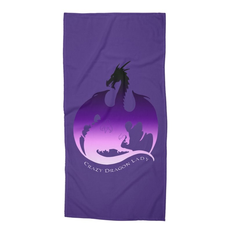 Crazy Dragon Lady Accessories Beach Towel by Ferine Fire