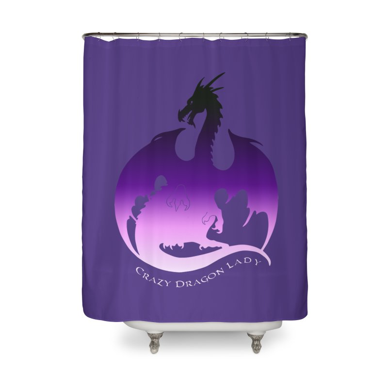 Crazy Dragon Lady Home Shower Curtain by Ferine Fire