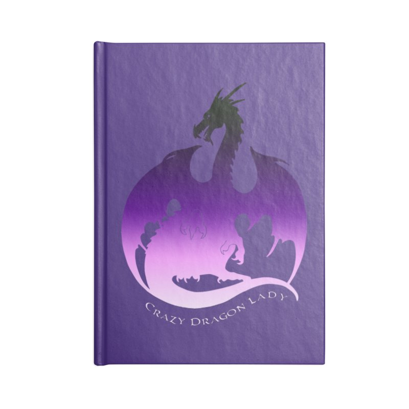 Crazy Dragon Lady Accessories Notebook by Ferine Fire