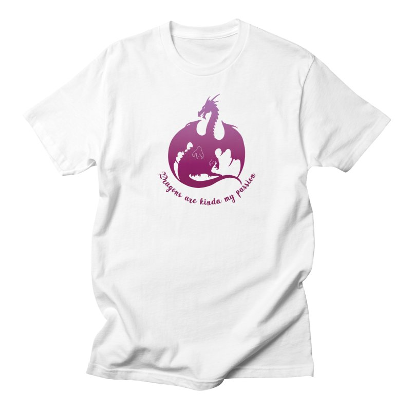 Dragons are kinda my passion Men's Regular T-Shirt by Ferine Fire