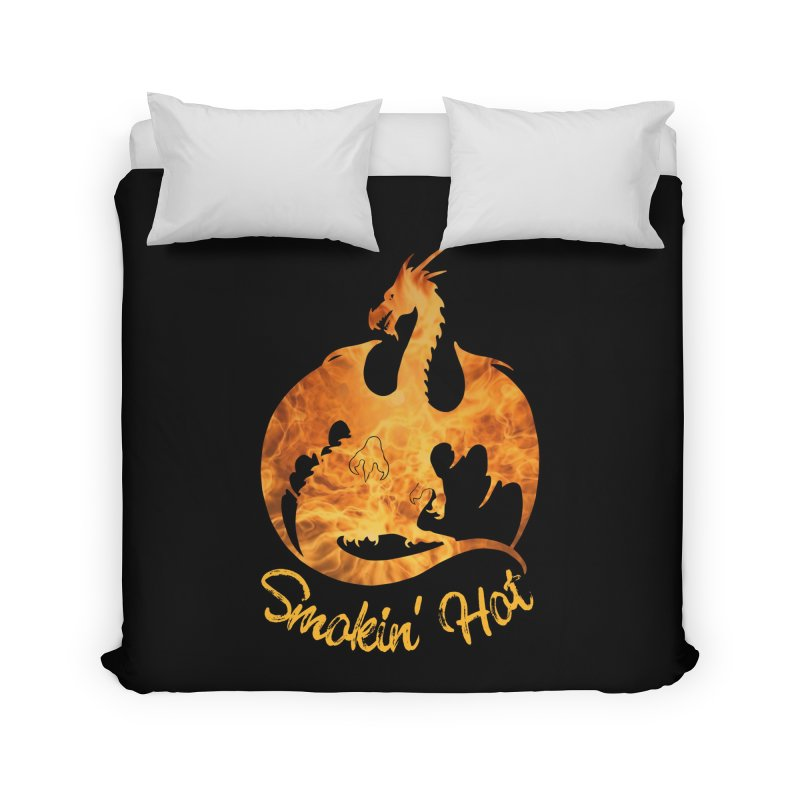 Smokin' Hot Dragon Home Duvet by Ferine Fire