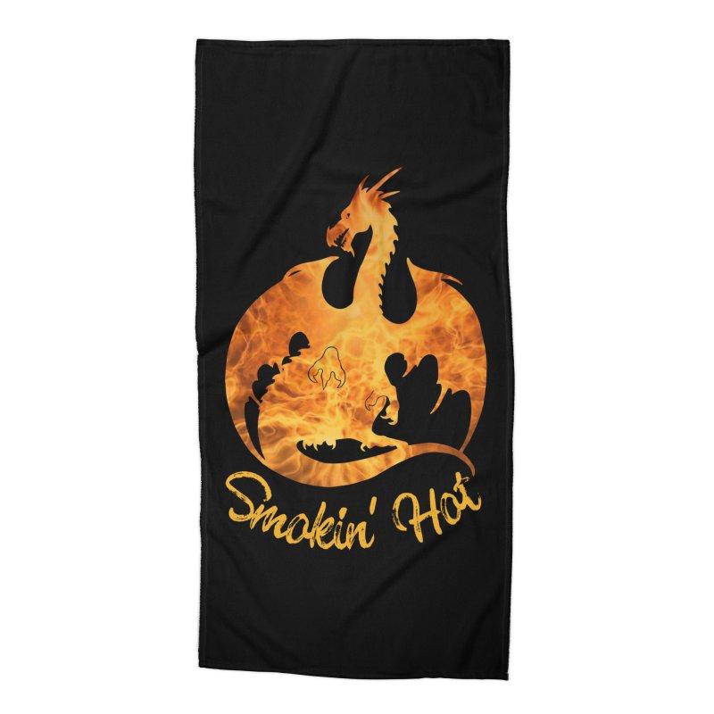 Smokin' Hot Dragon Accessories Beach Towel by Ferine Fire