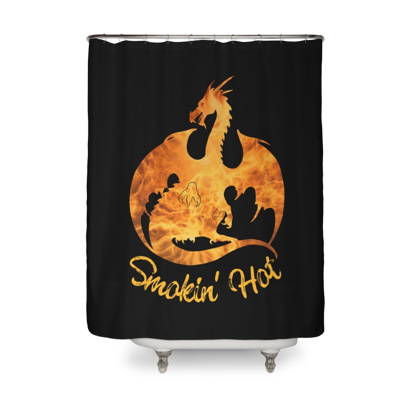 Smokin' Hot Dragon Home Shower Curtain by Ferine Fire