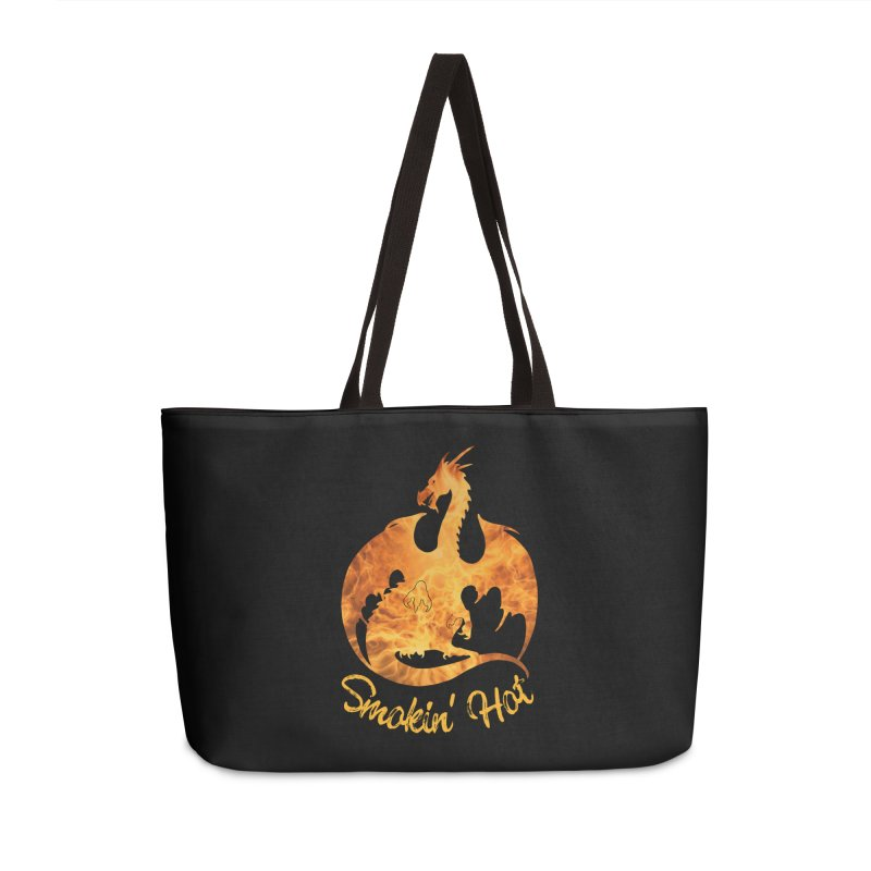 Smokin' Hot Dragon Accessories Weekender Bag Bag by Ferine Fire