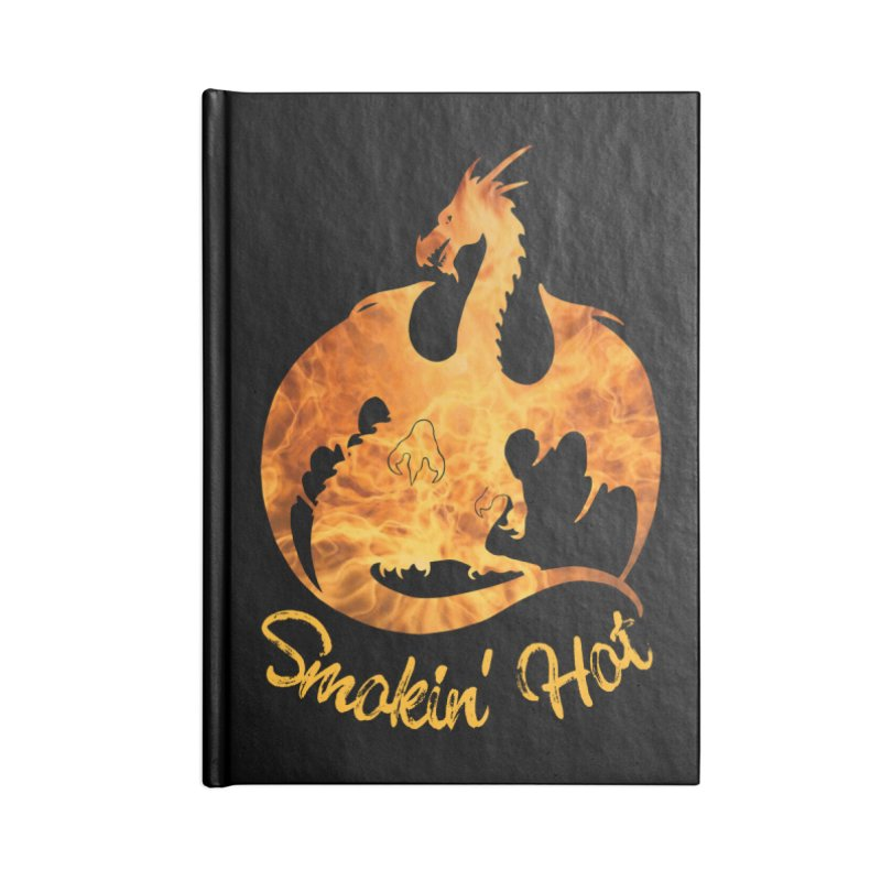 Smokin' Hot Dragon Accessories Notebook by Ferine Fire