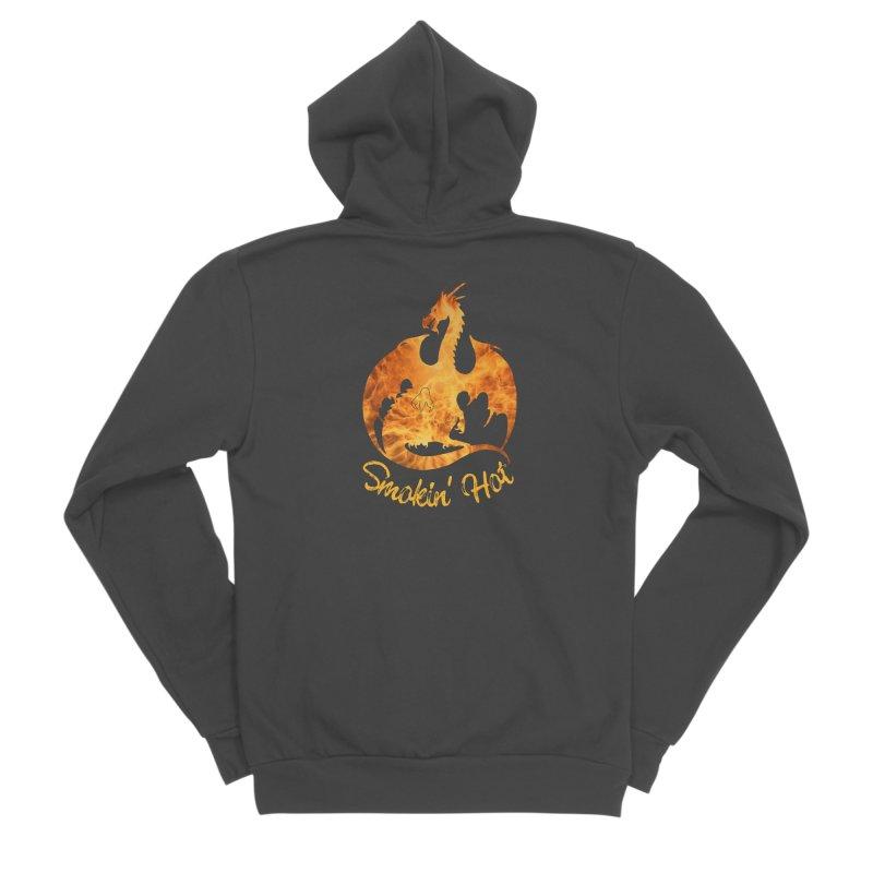 Smokin' Hot Dragon Men's Sponge Fleece Zip-Up Hoody by Ferine Fire