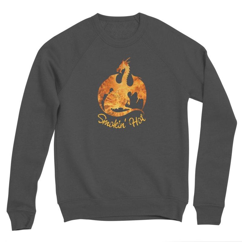 Smokin' Hot Dragon Men's Sponge Fleece Sweatshirt by Ferine Fire