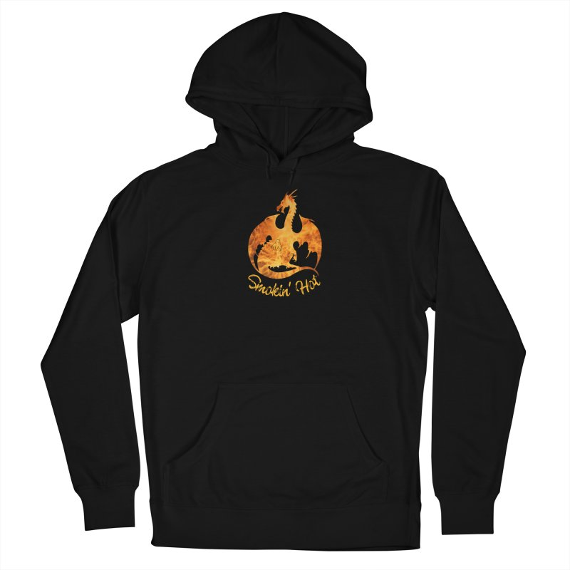 Smokin' Hot Dragon Women's French Terry Pullover Hoody by Ferine Fire