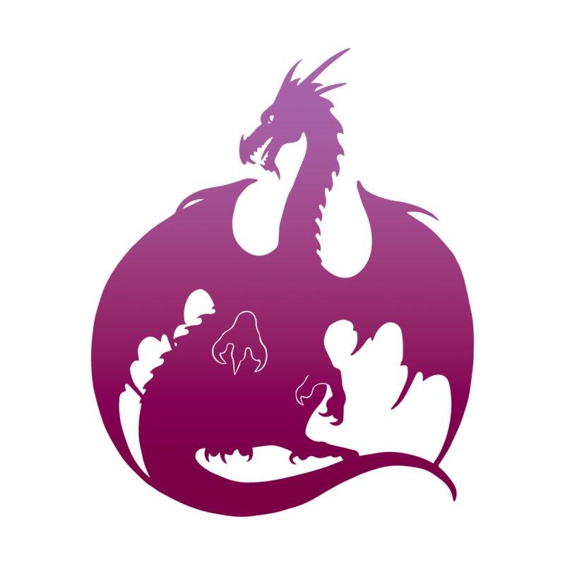 Dragon Silhouette - Purple & Pink Men's T-Shirt by Ferine Fire