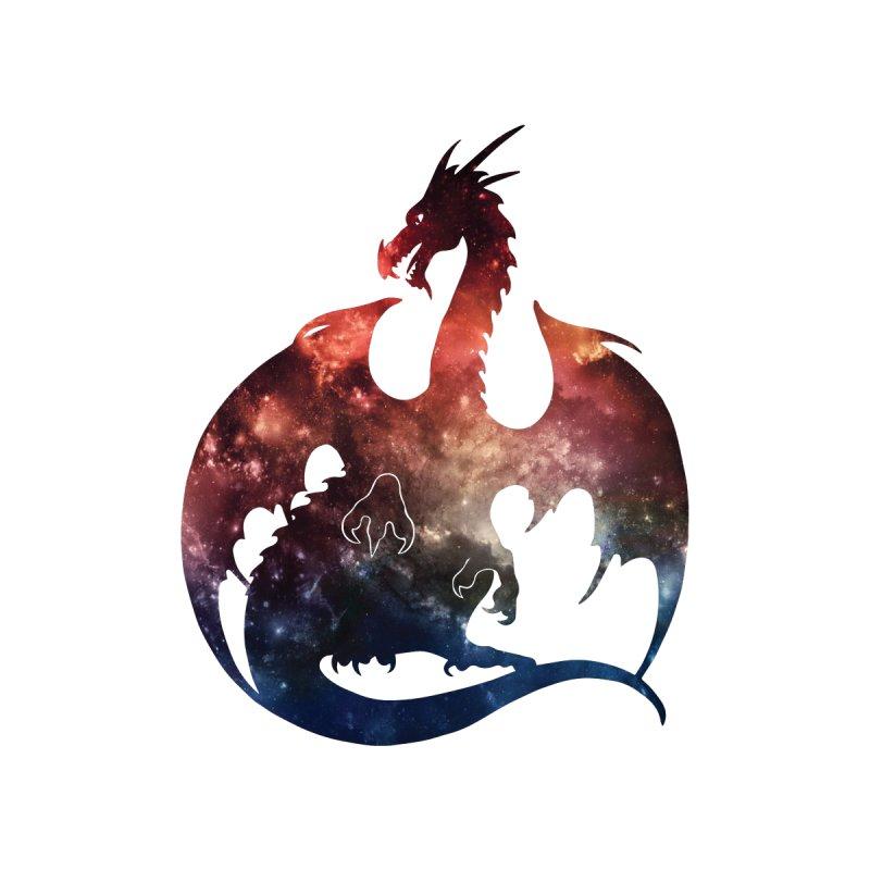 Galaxy Dragon Silhouette Men's T-Shirt by Ferine Fire