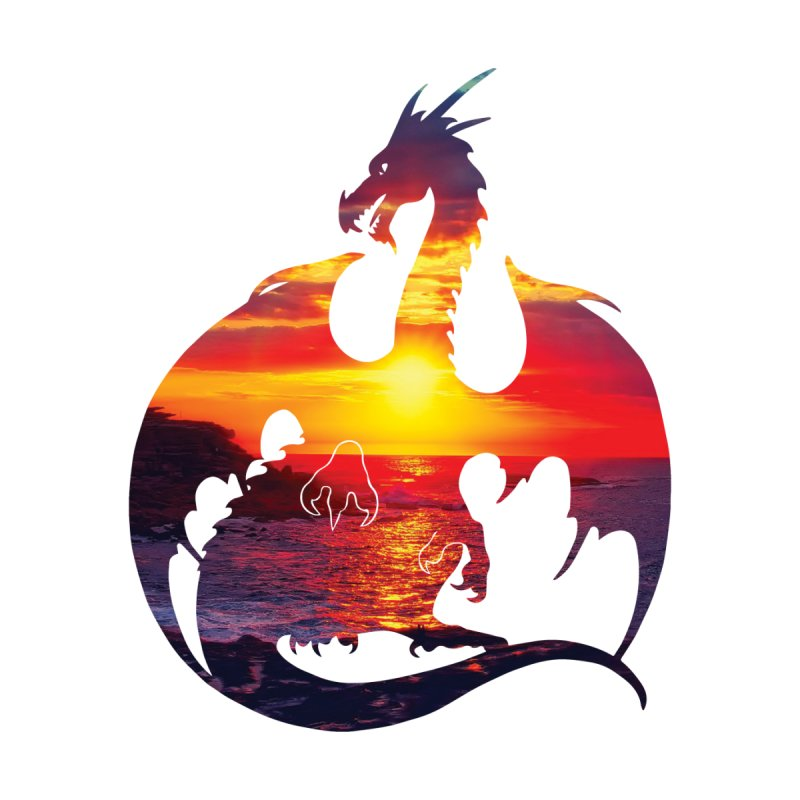 Sunset Dragon Silhouette by Ferine Fire