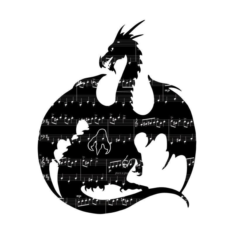 Music Dragon Silhouette   by Ferine Fire