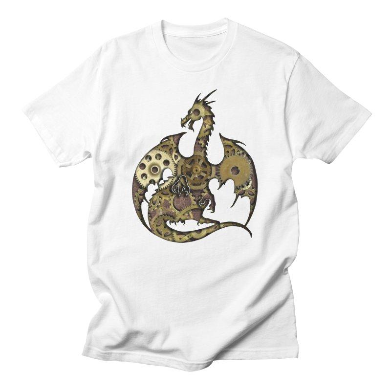 Clockwork Dragon Men's T-Shirt by Ferine Fire