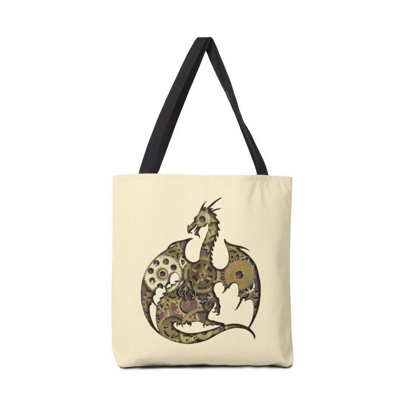 Clockwork Dragon in Tote Bag by Ferine Fire