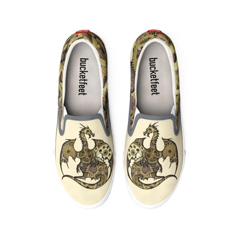 Clockwork Dragon Men's Shoes by Ferine Fire